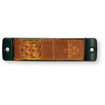 Feu latéral orange avec catadioptre 12-24 volts LED